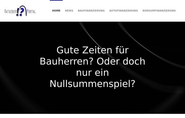 Vorschau von www.ratgeberportal.de, Ratgeberportal.de - Finanzierungsratgeber