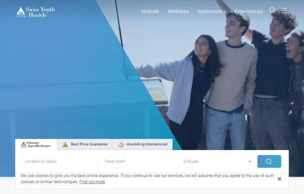 Vorschau von www.youthhostel.ch, SJH Jugendherbergen