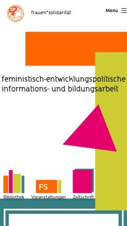 Vorschau der mobilen Webseite www.frauensolidaritaet.org, Frauensolidarität