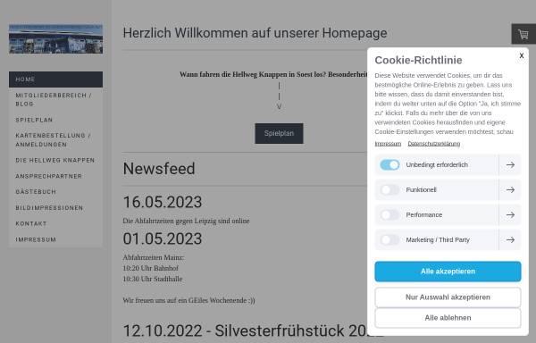 Vorschau von www.hellweg-knappen.de, Hellweg Knappen e.V.
