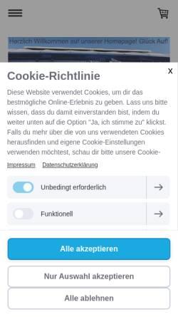 Vorschau der mobilen Webseite www.hellweg-knappen.de, Hellweg Knappen e.V.