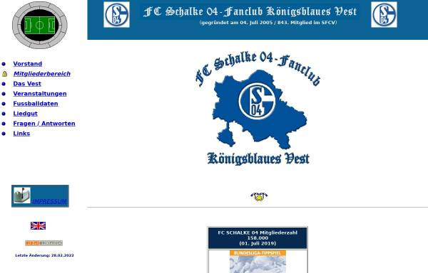 Vorschau von koenigsblaues-vest.de, Königblaues Vest