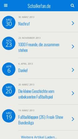 Vorschau der mobilen Webseite www.schalkefan.de, Schalkefan.de