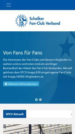 Vorschau der mobilen Webseite www.sfcv.de, SFCV Fanbetreuung GmbH