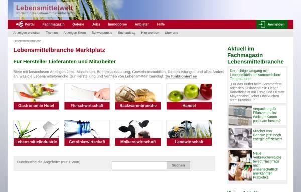 Vorschau von lebensmittelwelt.de, Lebensmittelwelt - Thomas Christensen