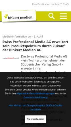 Vorschau der mobilen Webseite www.lt-magazin.ch, LT, Lebensmittel Technologie - Binkert Medien AG