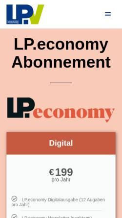 Vorschau der mobilen Webseite www.lpinternational.de, SHM - LPinternational