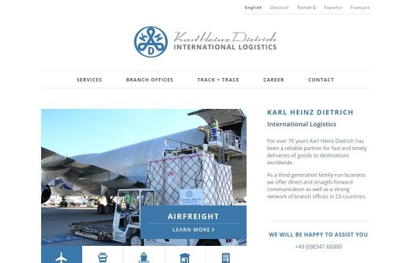 Vorschau von www.dietrich-logistic.com, Karl Heinz Dietrich GmbH & Co