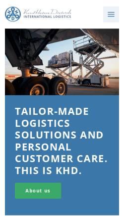 Vorschau der mobilen Webseite www.dietrich-logistic.com, Karl Heinz Dietrich GmbH & Co