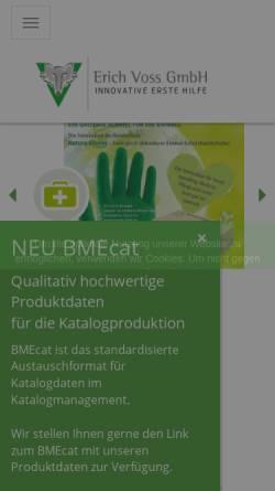 Vorschau der mobilen Webseite www.vossgmbh.de, Erich Voss GmbH