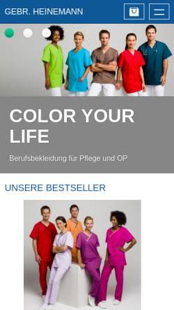 Vorschau der mobilen Webseite www.heinemann-neuss.de, Gebr. Heinemann