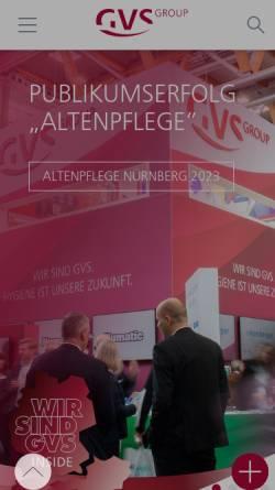 Vorschau der mobilen Webseite www.gvs-eg.de, GVS Großverbraucherspezialisten e.G.