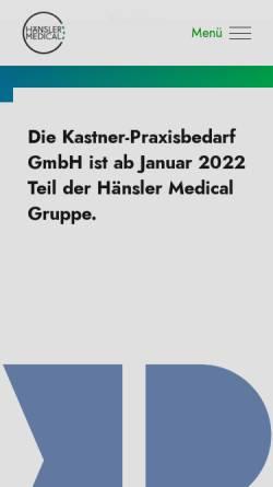 Vorschau der mobilen Webseite www.kastner-gmbh.de, Kastner-Praxisbedarf GmbH