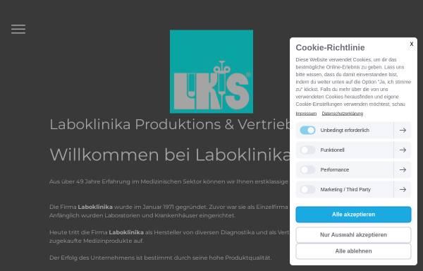 Vorschau von www.laboklinika.de, Laboklinika-Vertriebsgesellschaft