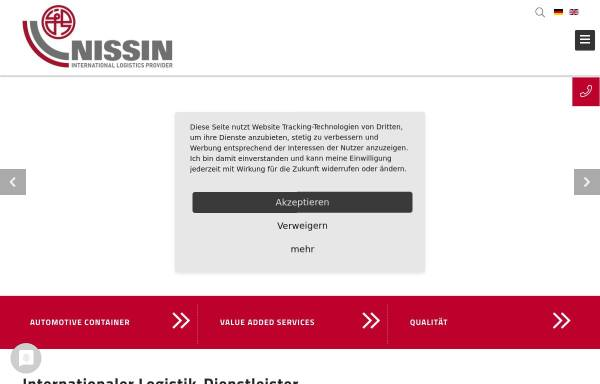 Vorschau von www.nissin-eu.com, Nissin Transport GmbH