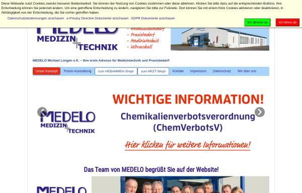 Vorschau von www.medelo.de, Medelo Michael Longen e.K.