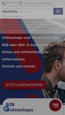 Vorschau der mobilen Webseite www.medisales.de, MediSales - InterSales AG Internet Commerce