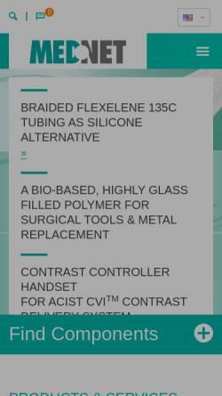 Vorschau der mobilen Webseite www.medneteurope.com, MedNet GmbH