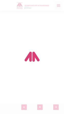 Vorschau der mobilen Webseite www.medsorg.de, Medsorg GmbH