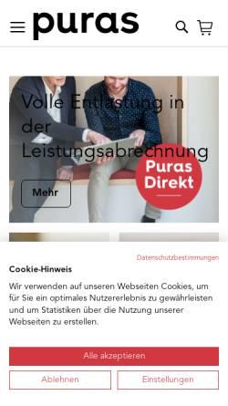 Vorschau der mobilen Webseite www.theo-frey.ch, Theo Frey AG