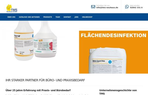 Vorschau von www.tms-neuhaus.de, TMS Neuhaus - Büro- und Praxisbedarf, Inh. Norbert Neuhaus