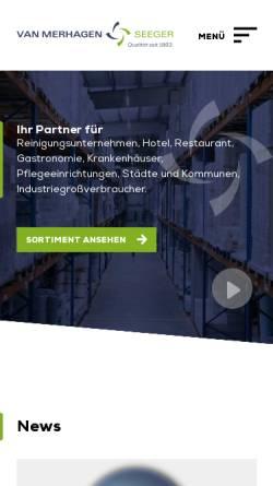 Vorschau der mobilen Webseite www.merhagen.de, Van Merhagen & Seeger GmbH