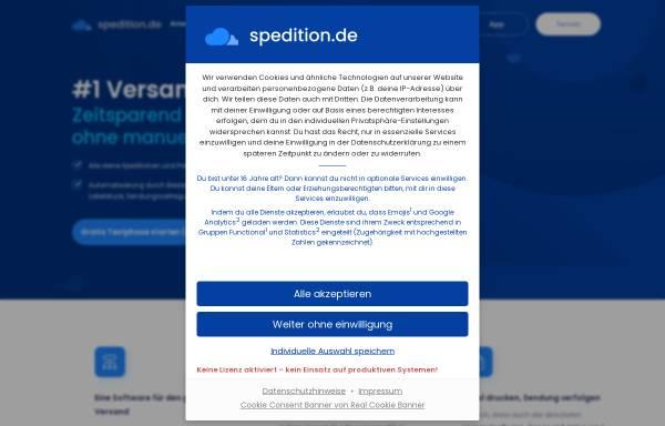 Vorschau von www.spedition.de, Spedition.de