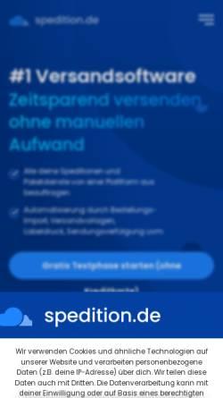 Vorschau der mobilen Webseite www.spedition.de, Spedition.de