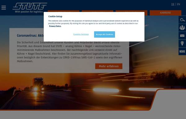 Vorschau von www.stute.de, STUTE Logistics (AG & Co.) KG