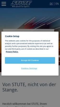 Vorschau der mobilen Webseite www.stute.de, STUTE Logistics (AG & Co.) KG