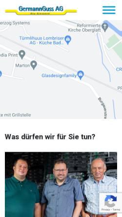 Vorschau der mobilen Webseite www.germannguss.ch, GermannGuss AG