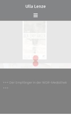 Vorschau der mobilen Webseite www.ullalenze.de, Ulla Lenze