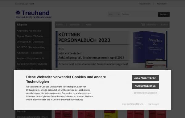 Vorschau von www.verlag-treuhand.de, Verlag Treuhand