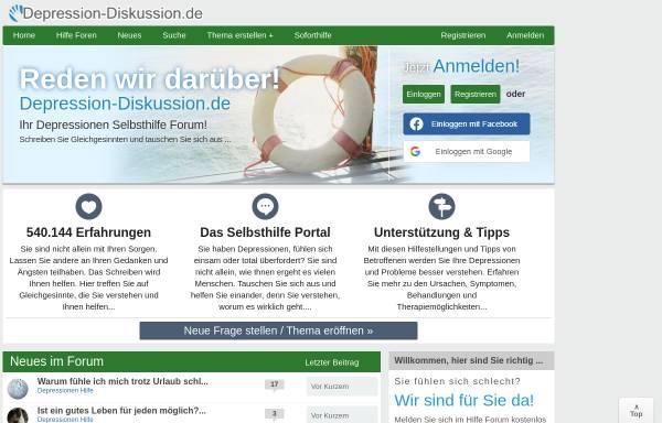 Vorschau von www.depression-diskussion.de, Depression Diskussion