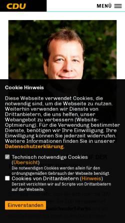 Vorschau der mobilen Webseite www.cdu-reinickendorf.de, CDU Reinickendorf