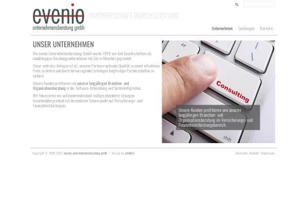 Vorschau von www.evenio.de, Evenio Unternehmensberatung GmbH