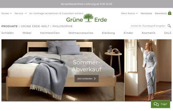Vorschau von www.grueneerde.at, Grüne Erde - Wohnen mit allen Sinnen