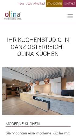 Vorschau der mobilen Webseite www.olina.com, olina Küchen