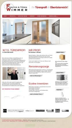 Vorschau der mobilen Webseite www.tueren-wimmer.at, Türen Wimmer