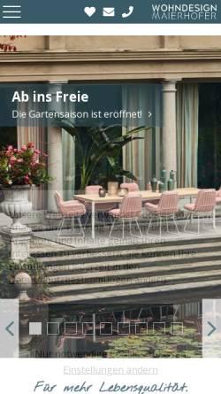 Vorschau der mobilen Webseite www.wohndesign-maierhofer.at, Wohndesign Maierhofer