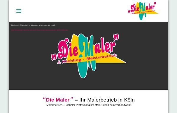 Vorschau von www.die-maler-koeln.de, Die Maler, Inhaber Jürgen Miehling