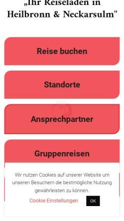 Vorschau der mobilen Webseite www.reiseladen-heilbronn.de, Reiseladen Heilbronn