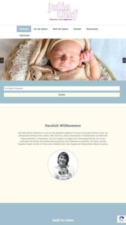 Vorschau der mobilen Webseite www.sanftinsleben.com, Hebamme Julia Olef