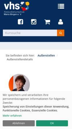 Vorschau der mobilen Webseite www.vhs-gau-algesheim.de, VHS Gau-Algesheim