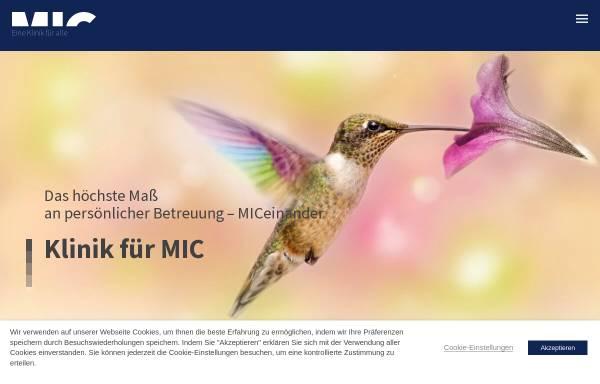 Vorschau von www.mic-berlin.de, Klinik für Minimal Invasive Adipositaschirurgie Berlin