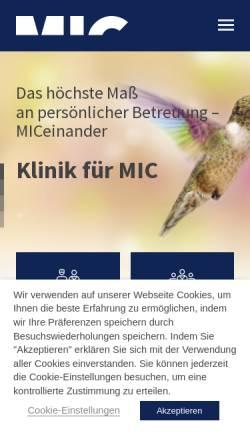 Vorschau der mobilen Webseite www.mic-berlin.de, Klinik für Minimal Invasive Adipositaschirurgie Berlin