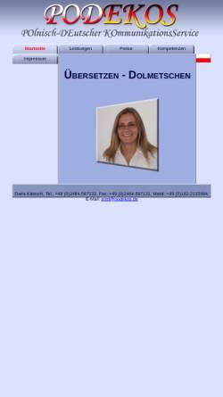 Vorschau der mobilen Webseite www.podekos.de, Daria Käbisch