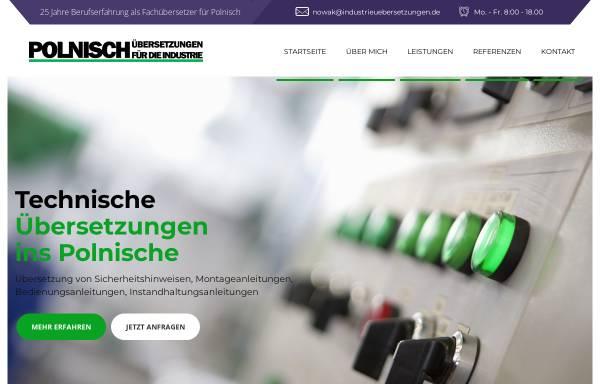 Vorschau von industrieuebersetzungen.de, Dipl.-Ing. Pawel Nowak