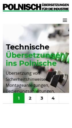 Vorschau der mobilen Webseite industrieuebersetzungen.de, Dipl.-Ing. Pawel Nowak
