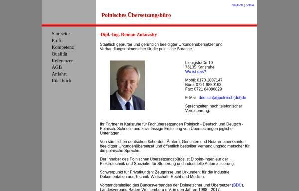 Vorschau von www.polnisch.de, Dipl.-Ing. Roman Zukowsky